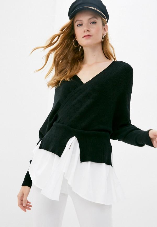 женский пуловер care of you, черный