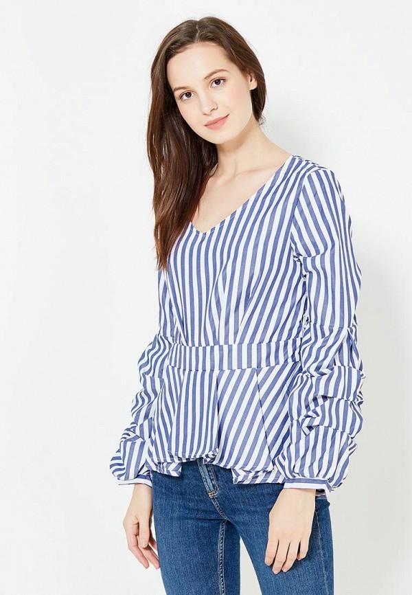 женская блузка care of you, синяя