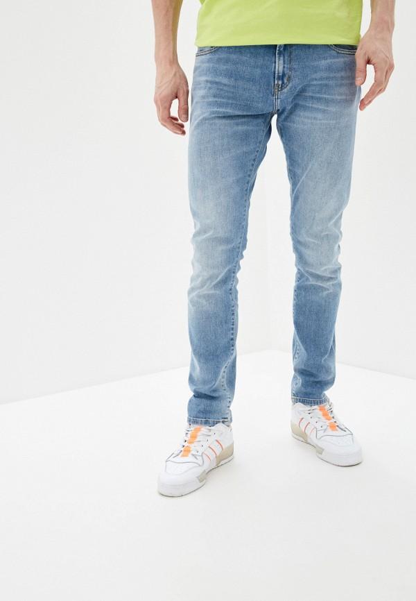 мужские зауженные джинсы carhartt, голубые