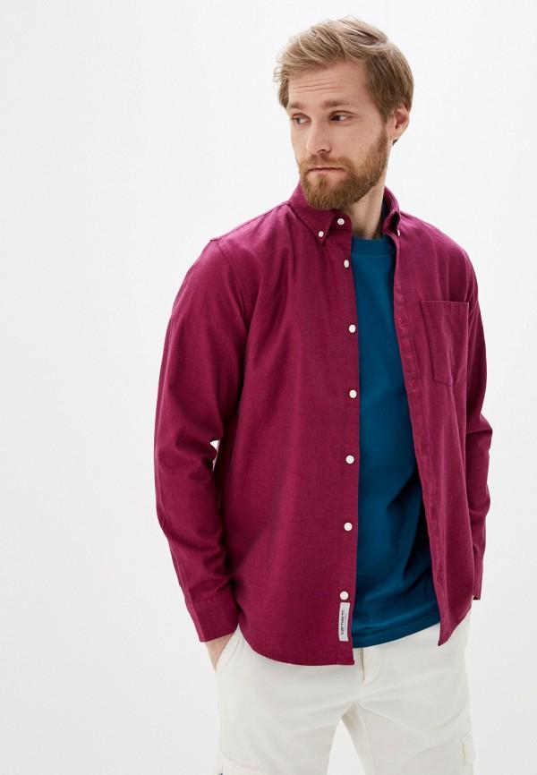 мужская рубашка с длинным рукавом carhartt, бордовая