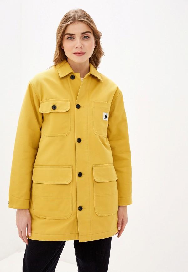 женская утепленные куртка carhartt, желтая