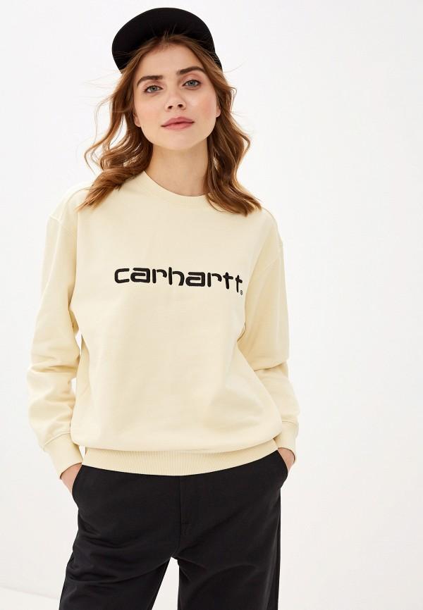 женский свитшот carhartt, желтый