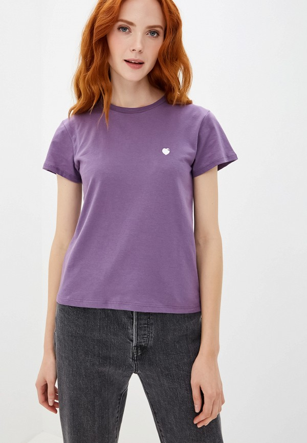 женская футболка carhartt, фиолетовая