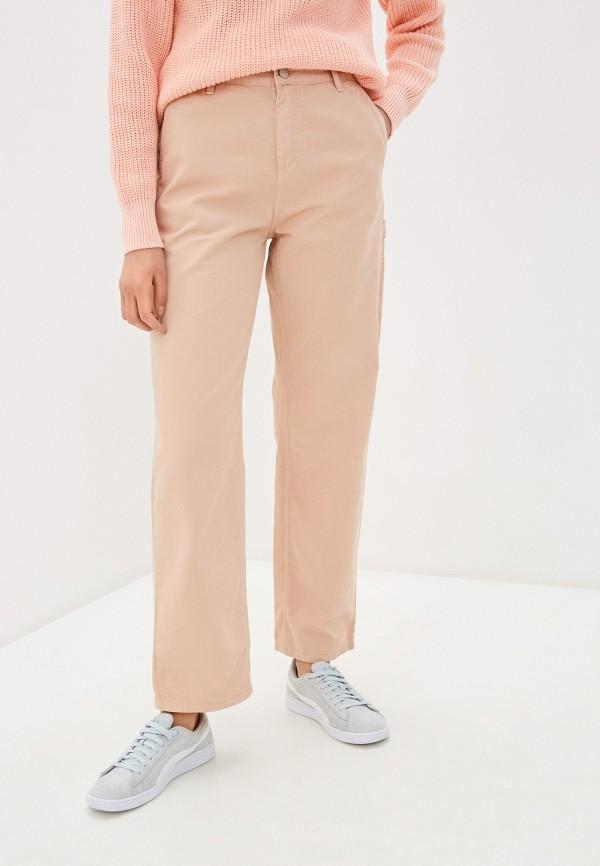 женские повседневные брюки carhartt, бежевые