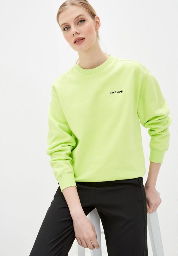 женский свитшот carhartt, зеленый