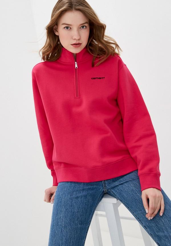 женский свитшот carhartt, розовый