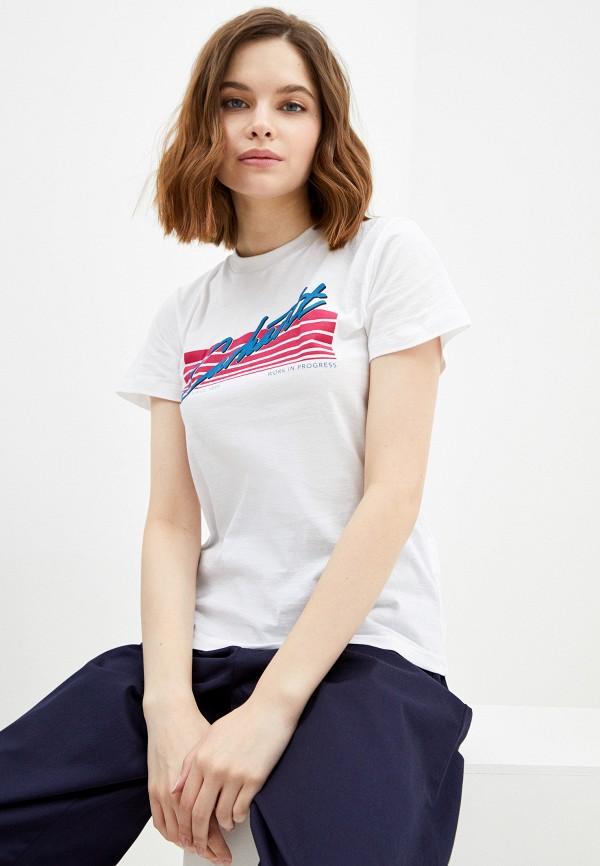 женская футболка carhartt, белая