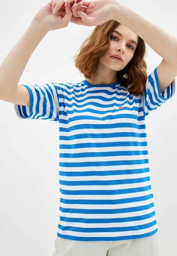 женская футболка carhartt, синяя