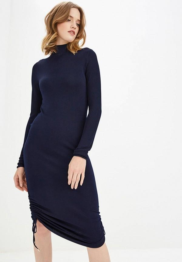 женское повседневные платье carven, синее