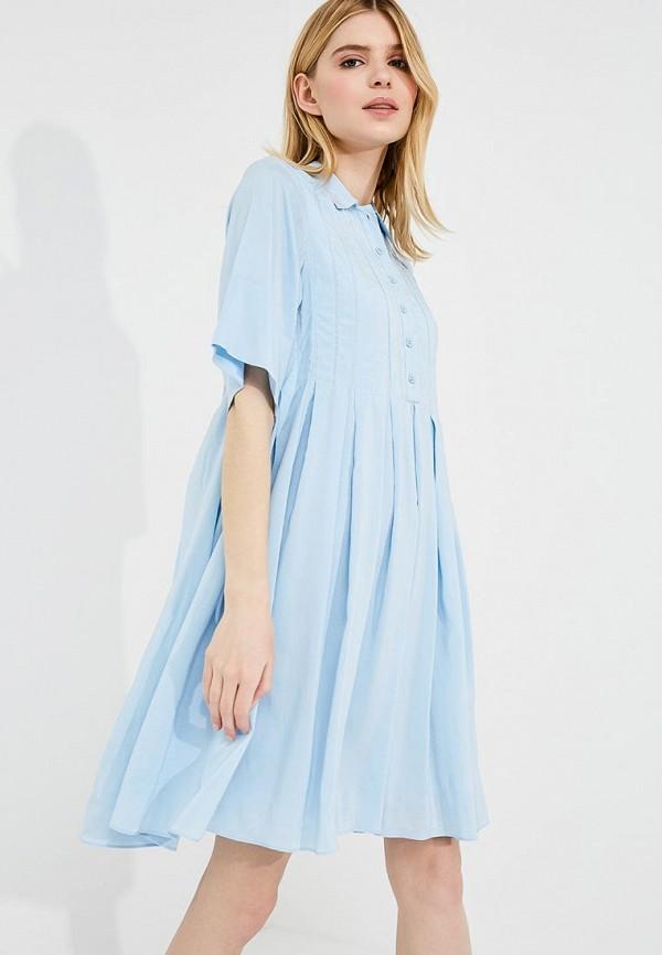 женское повседневные платье carven, голубое