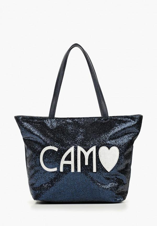 женская сумка camomilla italia, синяя