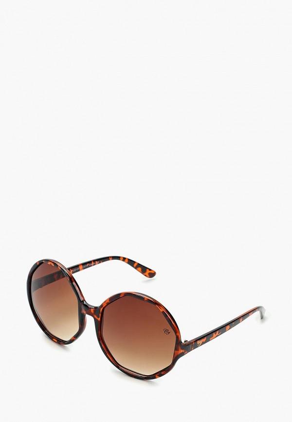 женские солнцезащитные очки camomilla italia, коричневые