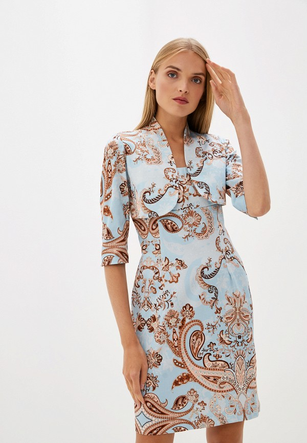 женское платье-футляр camomilla italia, голубое