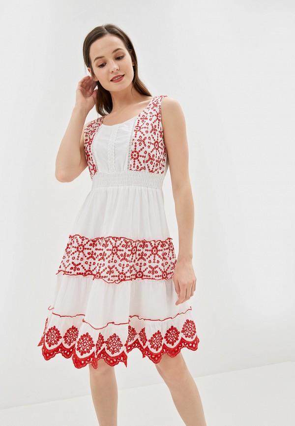 женское повседневные платье camomilla italia, белое