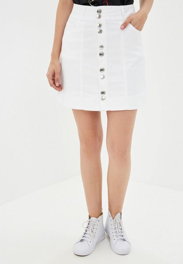 женская джинсовые юбка camomilla italia, белая