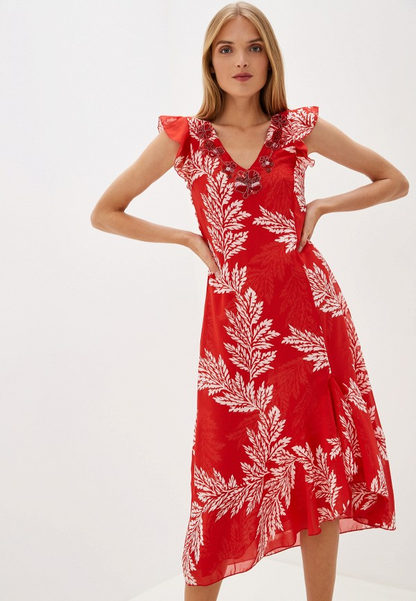 женское вечерние платье camomilla italia, красное
