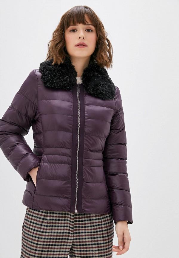 женская куртка camomilla italia, фиолетовая