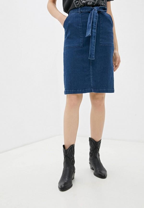 женская юбка camomilla italia, синяя