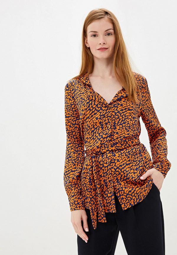 женская блузка camomilla italia, оранжевая