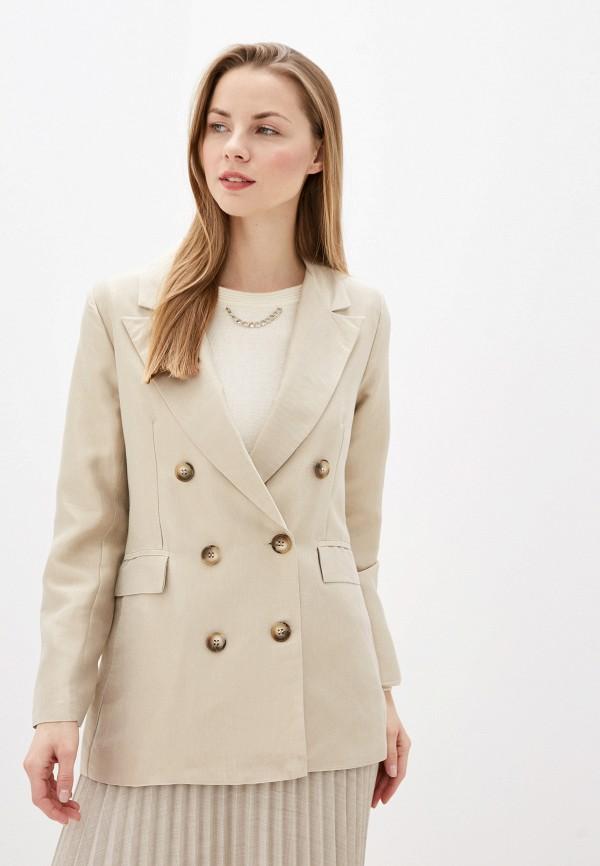 женский пиджак camomilla italia, бежевый
