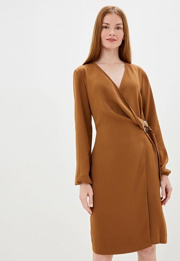 женское повседневные платье camomilla italia, коричневое
