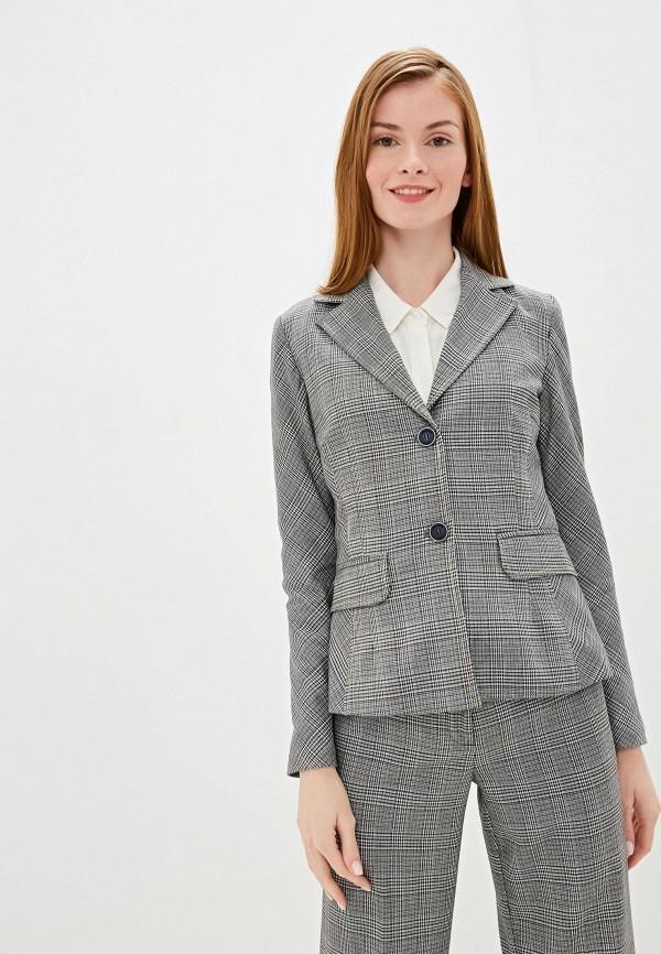 женский пиджак camomilla italia, серый