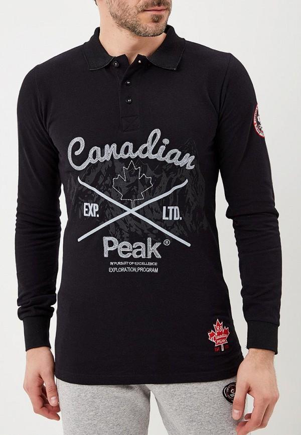 Купить Поло Canadian Peak, CA100EMATHW0, черный, Весна-лето 2018