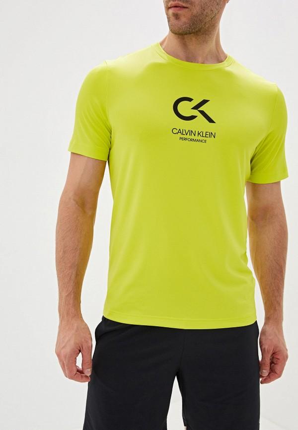 мужская футболка calvin klein, желтая