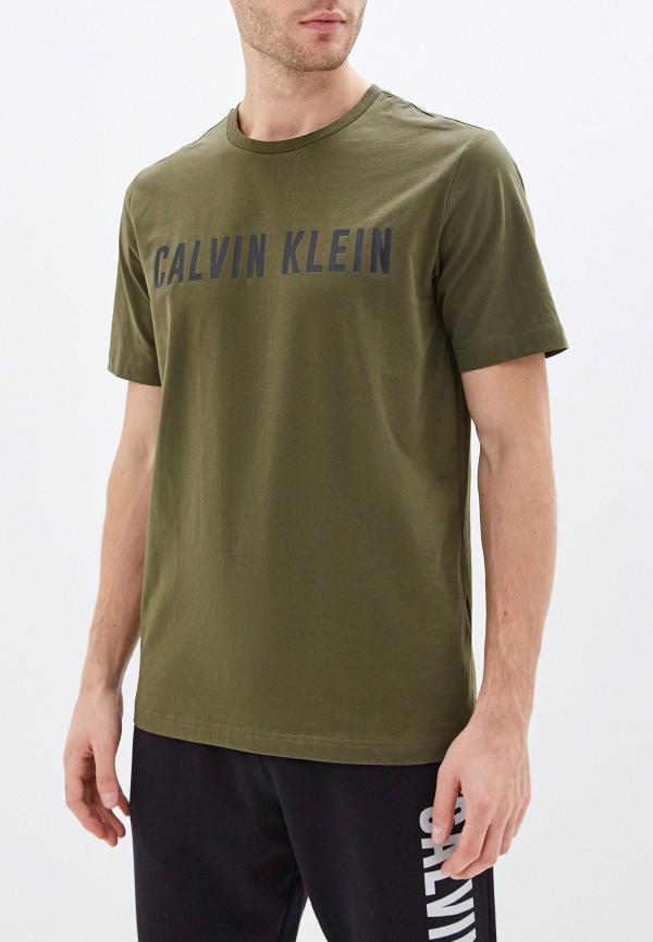 мужская футболка calvin klein, хаки