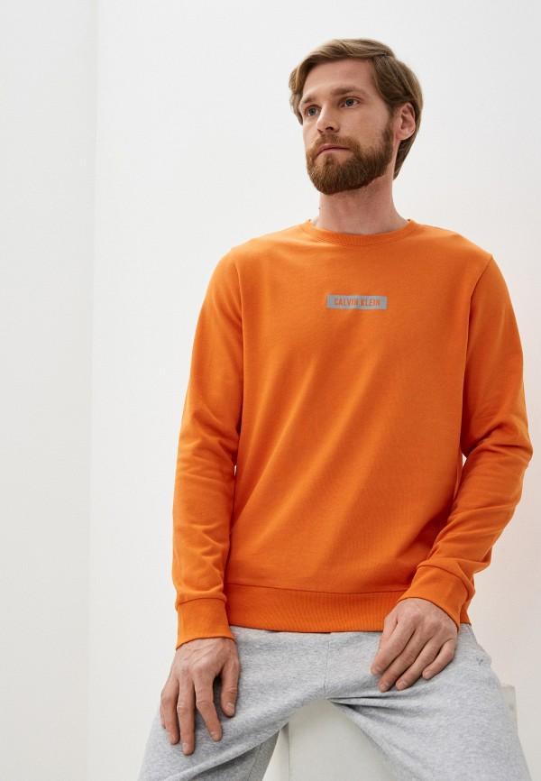мужской свитшот calvin klein, оранжевый