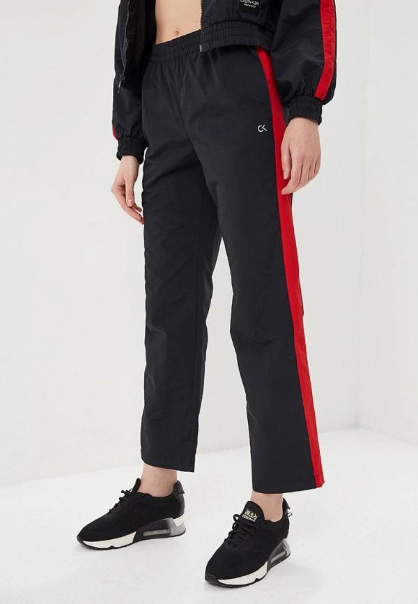 женские спортивные брюки calvin klein performance, черные