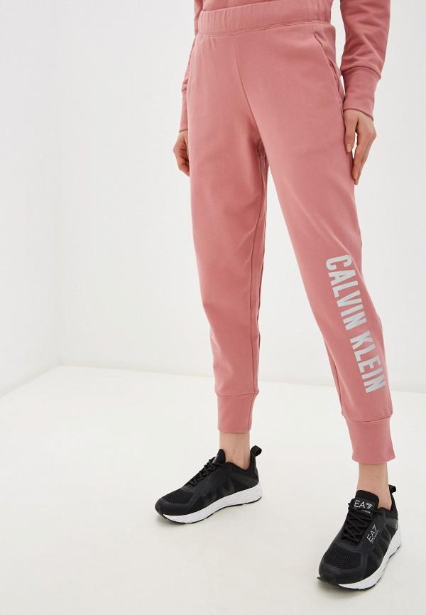 женские спортивные брюки calvin klein, розовые
