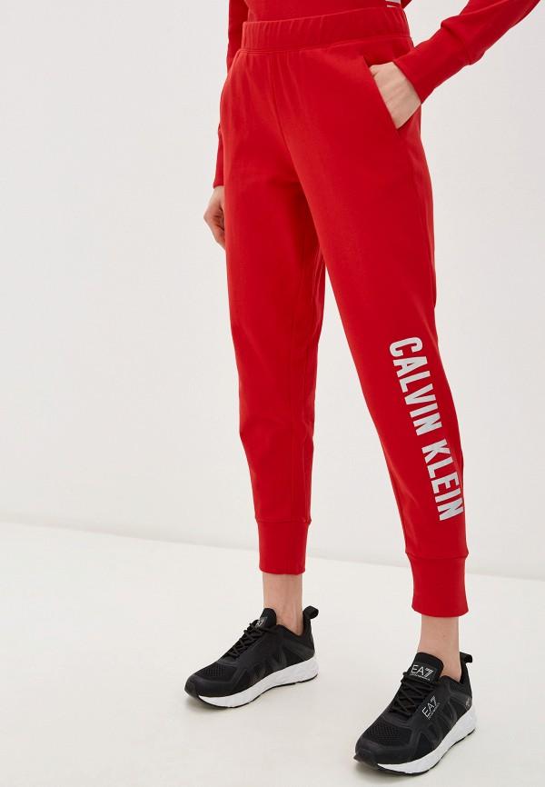 женские спортивные брюки calvin klein, красные