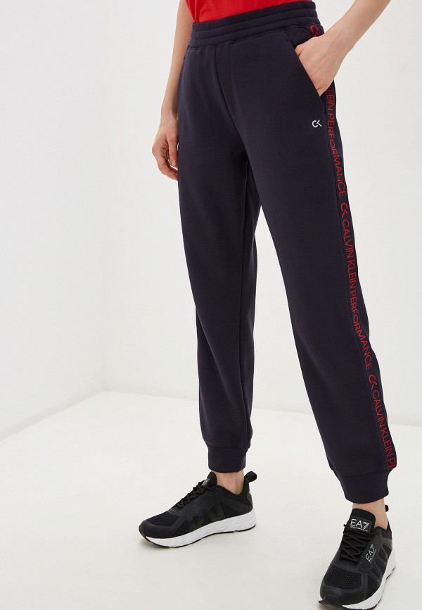 женские спортивные брюки calvin klein, синие