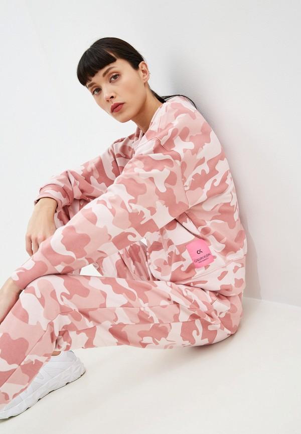 женский свитшот calvin klein, розовый