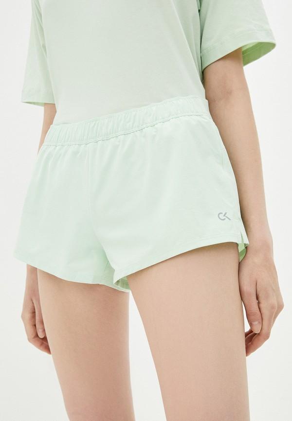женские повседневные шорты calvin klein, зеленые