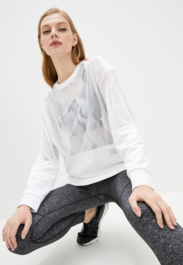 женский спортивные свитшот calvin klein, белый