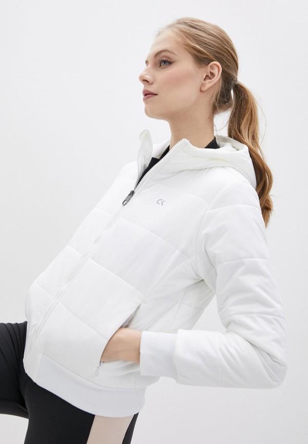женская куртка calvin klein, белая