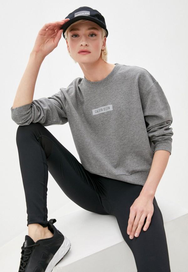 женский свитшот calvin klein, серый