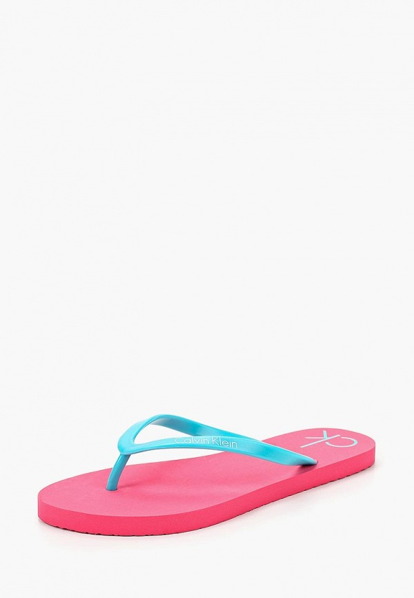 Купить Сланцы Calvin Klein, CA105AGBLIG0, бирюзовый, Весна-лето 2018