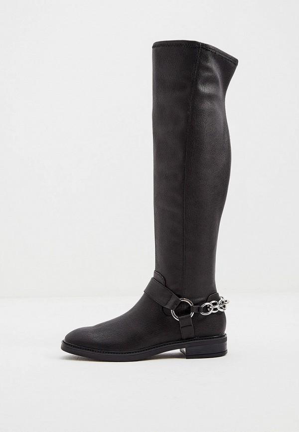 женские ботфорты calvin klein, черные