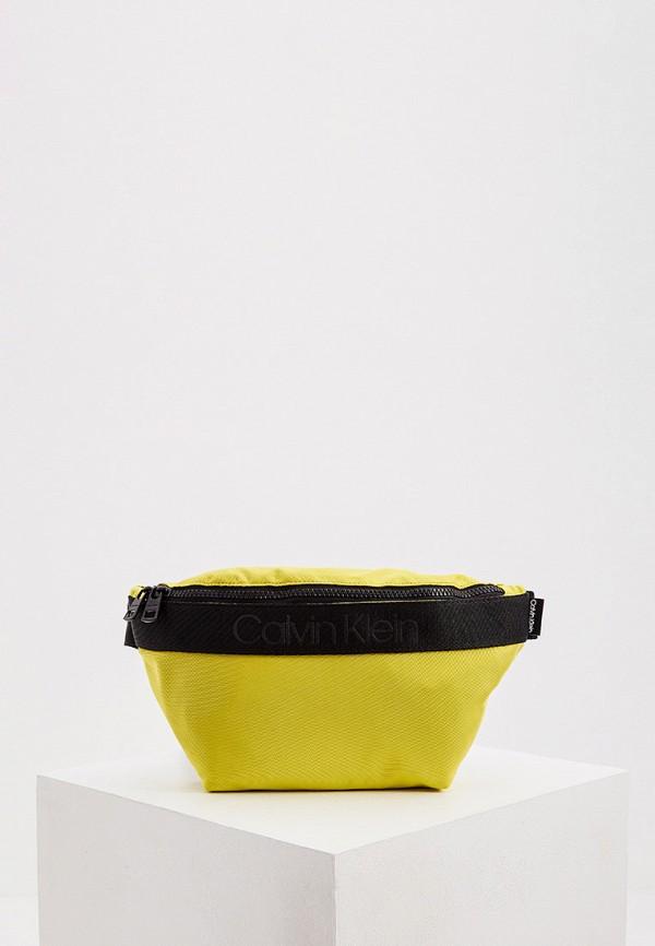 мужская поясные сумка calvin klein, желтая