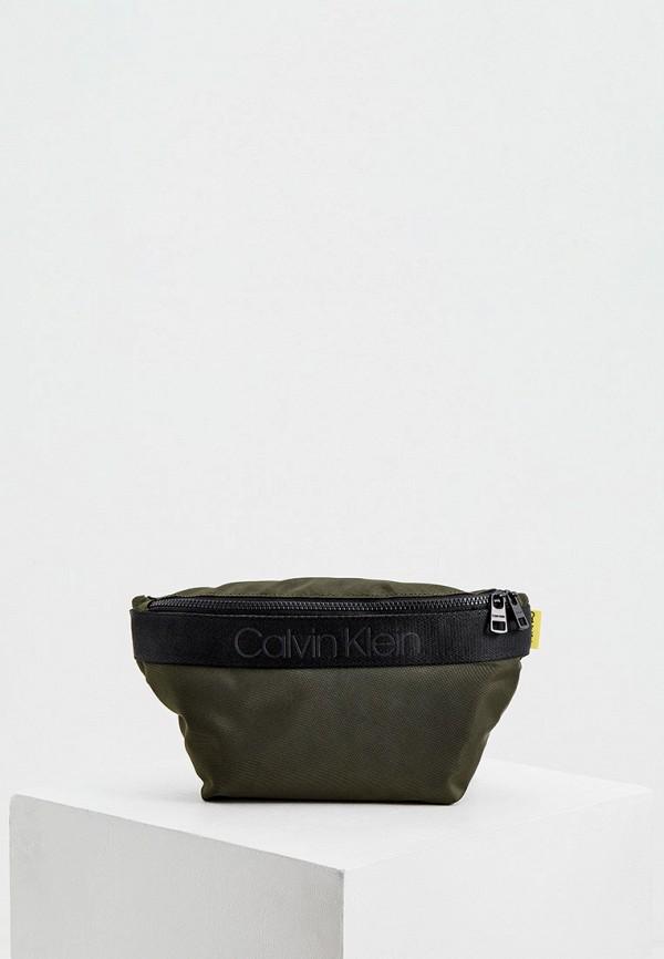 мужская поясные сумка calvin klein, хаки