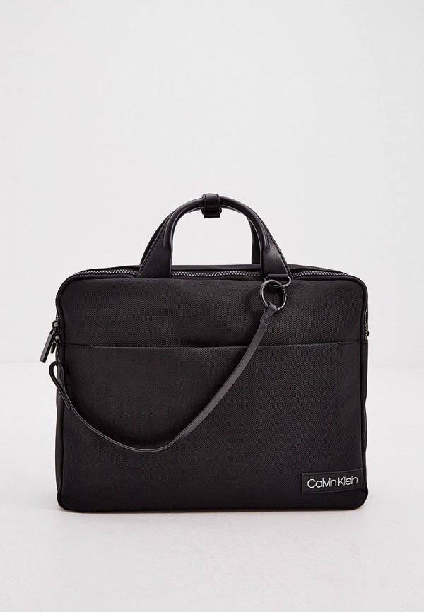 мужская сумка с ручками calvin klein, черная
