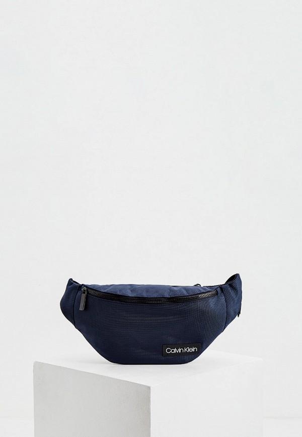 мужская поясные сумка calvin klein, синяя
