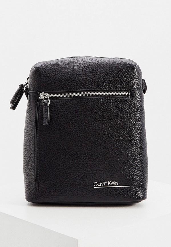 мужская сумка через плечо calvin klein, черная