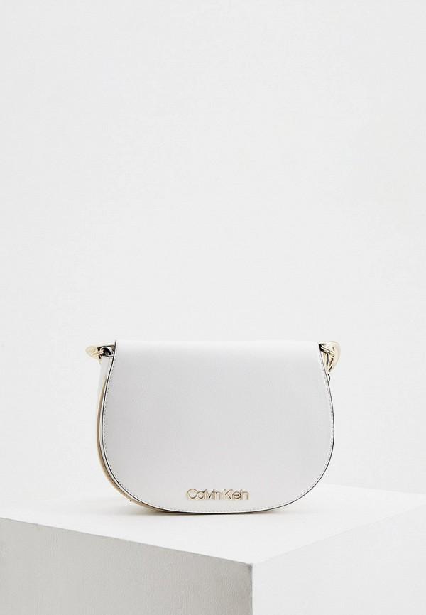 женская сумка через плечо calvin klein, белая