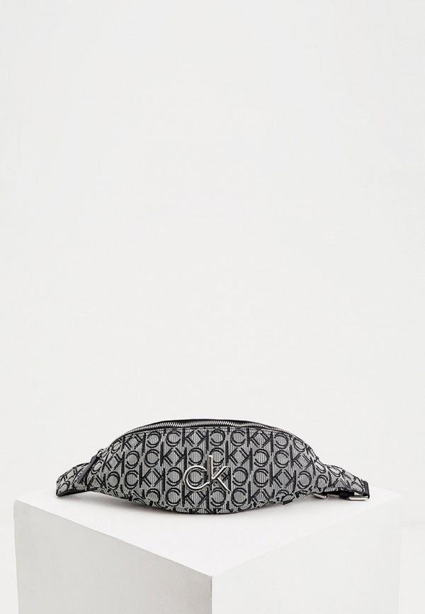 женская поясные сумка calvin klein, серая