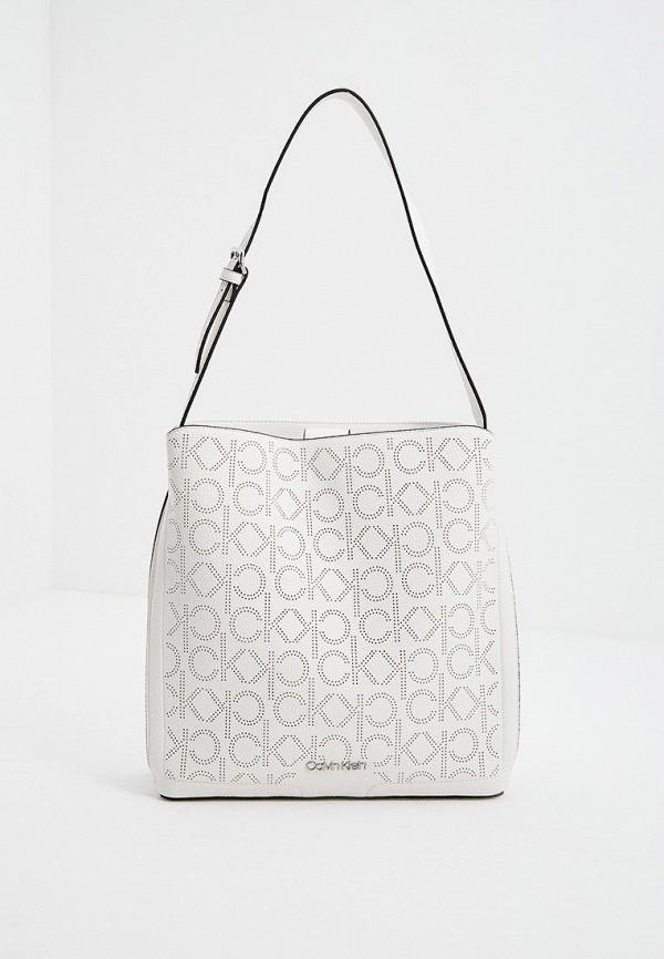 женская сумка с ручками calvin klein, белая