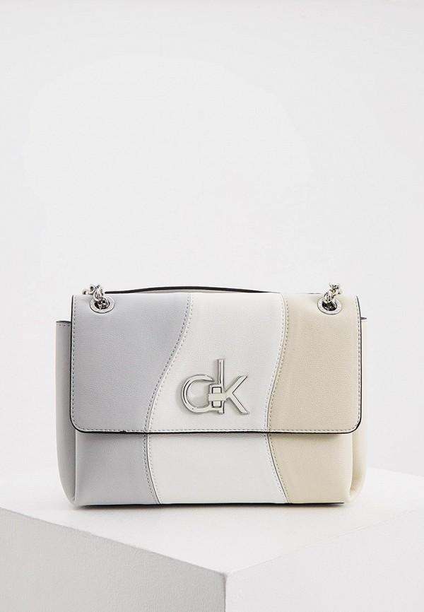 женская сумка с ручками calvin klein, разноцветная